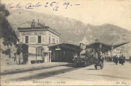 MONACO - MONTE CARLO TRAIN LA GARE TBE - Monte-Carlo