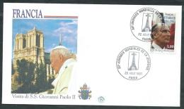 1997 VATICANO VIAGGI DEL PAPA FRANCIA PARIGI - SV9 - FDC
