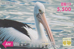 Carte Prépayée Japon - OISEAU - PELICAN - BIRD Japan Prepaid Card / V4 - PELIKAN Vogel Karte - Hiro 3937 - Pájaros