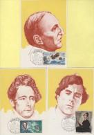 Monaco - Dumas - Henri Rougier - Lamartine - Beethoven - Modigliani - N°839/43 - Cartas Máxima