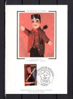 """Carte Maximum En Soie De 2003 N° YT 3565 """" LA FRANCE A VIVRE 2003 : GUIGNOL """" En Parfait état. CM - Marionnettes"""