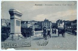 BENEVENTO MONUMENTO A DANTE SUL PONTE CALORE ANIMATA 1928 - Benevento