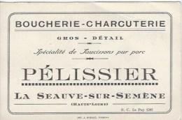 Carte Visite Publicité Boucherie Charcuterie 43 - Cartes De Visite