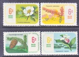 US   1376-9   **   BOTANICAL FLOWERS - United States