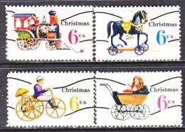 US   1415-18    *   ANTIQUE CHRISTMAS TOYS  PRECANCEL - United States