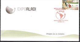 MÉXICO FDC  Expo ALADI 2014 La Asociación Latinoamericana De Integración FLAGS FIRST DAY OF ISSUE COVER - Mexico