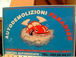 ADESIVO  STIKER AUTODEMOLIZIONI  PARADISO AUTO CAR  VW BEETLE 1985 ET16664 - Adesivi