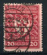 20075) DEUTSCHES REICH # 204 A Gestempelt GEPRÜFT Aus 1922, 15.- € - Allemagne