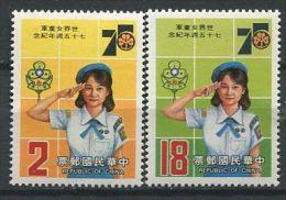 140 FORMOSE 1985 - Scout, Jamboree, Embleme (Yvert 1556/57) Neuf ** (MNH) Sans Trace De Charniere - 1945-... République De Chine