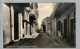 AK Kolumbien Cartagena 1930 Foto Santo Domingo-Street - Colombie