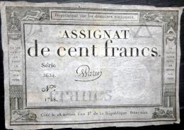 ASSIGNAT DES DOMAINES NATIONAUX   ASSIGNAT DE CENT FRANCS  AN III  (1794 )     SERIE 2624   SIGNE WARIN - Assignats & Mandats Territoriaux