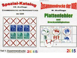 DDR Teil 1+4 RICHTER Katalog ZD+Abarten/Plattenfehler 2015 Neu 50€ Se-tenant/bloc GDR Error Special Catalogue Bf Germany - Telefonkarten