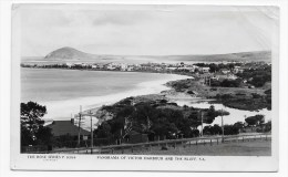 (RECTO / VERSO) VICTOR HARBOUR AND THE BLUFF - THE ROSE SERIES P. 9306 - PLIS ANGLE HAUT A DROITE - BEAU CACHET - Victor Harbor