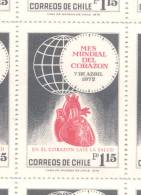 MES MUNDIAL DEL CORAZON CADRE MOIS MONDIAL DU COEUR AÑO 1972 DENTADO 14,5 MNH TBE