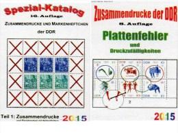 DDR Teil 1+4 RICHTER Katalog ZD+Abarten/Plattenfehler 2015 Neu 50€ Se-tenant/bloc GDR Error Special Catalogue Bf Germany - Alte Papiere