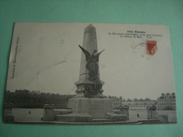 RENNES 35 1919 MONUMENT Maps Postcard Postkarte Cartolina Postale - Rennes