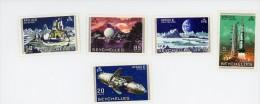 Seychelles 1969-Apollo 11-YT 247/51***MNH