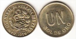 PERÚ 1976   1  SOL DE ORO.ESCUDO DEL PERÚ   NUEVA SIN CIRCULAR  .CN4280 - Pérou