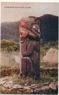 Totem Near Ketchikan Alaska USA  Edit Father Hubbard - Indiens De L'Amerique Du Nord