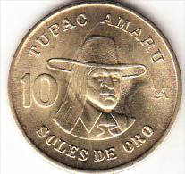 PERÚ 1979   10 SOLES DE ORO. TUPAC AMARU NUEVA SIN CIRCULAR    .CN4281 - Pérou