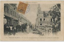 8 Fort De France Conseil General Lendemain Du Cyclone 9/8/1903  Troupe Timbre Rare 30 Cts Surchargé 10 Cts Paquebot Ship - Fort De France