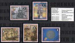 800Jahre Hamburg 1989 Paraguay 4339/3 O 12€ Gemälde Galeone Stich Segelschiff Gedenk-Münze Stadtbild Ship Set Of America - Paraguay