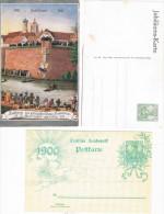 Dos Postales Con Sello De 5 Pf Una Con Ilustración Y Centenario De Vuelo - Alemania