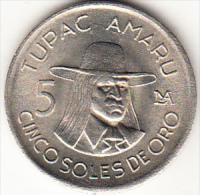 PERÚ 1975   5 SOLES DE ORO. TUPAC AMARU NUEVA SIN CIRCULAR    .CN4282 - Pérou