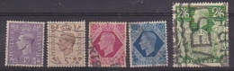 Great Britain 1937/.. King George 5v Used (see Scan) (20983) - 1902-1951 (Koningen)