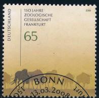 2653  Gestempelt Zoologischer Garten Bund 2008 - Gebruikt