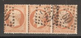 Bande De 3 N° 23 Oblitérée TB - 1862 Napoleon III