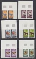Mauretanie Animals 6v  (pair, Corners) ** Mnh IMPERFORATED (20985) - Mauritanië (1960-...)