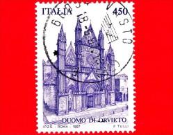 ITALIA - 1997 - USATO - Patrimonio Artistico - Duomo Di Orvieto -  450 L. - Artistic Heritage - 6. 1946-.. Republik