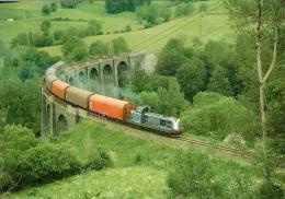CPM LE RAIL USSELLOIS N°198 BB 66000 Sur Le Viaduc De St SATURNIN 15 - Trenes
