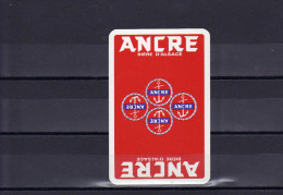 Dos D´une Carte à Jouer De La Brasserie ANCRE - Unclassified