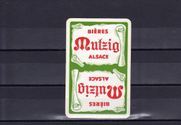 Dos D´une Carte à Jouer De La Brasserie Mutzig - Non Classés
