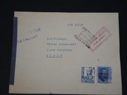 ESPAGNE- LETTRE DE LAS PALMA  POUR LA FRANCE EN 1939  CENSURE MILTAIRE  ET GRIFFE PAR AVION A ETUDIER   A VOIR LOT P3488 - Marcas De Censura Nacional