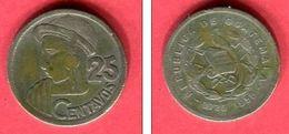 25   CENTAVOS 1958   (km 25 ] TB  9 - Guatemala