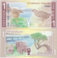 Chatam Islands - 1 Koha 2014 ( 2013 ) UNC Ukr-OP - Bankbiljetten