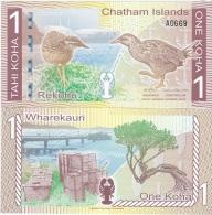 Chatam Islands - 1 Koha 2014 ( 2013 ) UNC Ukr-OP - Banknotes