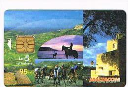 MALTA - MALTACOM CHIP - 2003 HORSERIDING - USED - RIF. 8943 - Malta
