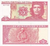 Cuba - 3 Pesos 2004 UNC CHE GUEVARA  Ukr-OP