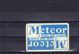 Dos D´une Carte à Jouer De La Brasserie Meteor - Unclassified