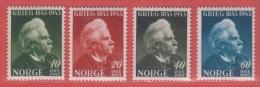 1943 ** (sans Charn., MNH, Postfrisch)   Yv  249/52Mi  287/90NHK  314/7 - Ongebruikt