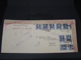 ESPAGNE - LETTRE RECOMMANDEE DE BARCELONE POUR PARIS AVEC CENSURE 1938  A VOIR   LOT P3498 - Marcas De Censura Nacional