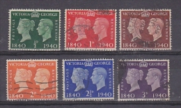 Great Britain 1940 Victoria - George Jubilee Set 6v Used (20993) - 1902-1951 (Koningen)