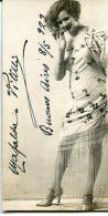 "AUTOGRAFO AUTOGRAPHED ""MAFALDA VITELLI"" ACTRESS-ACTRICE 1929 SMOOKE PIPE ORIGINAL SIGNATURE EXCLUSIVE NON CIRCULEE GECKO - Autogramme & Autographen"