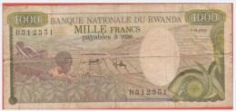 RWANDA - 1.000 Francs Du 01 01 1978 Pick 14a - Rwanda