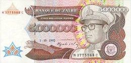 Zaire 5000000 Zaires 1992 Pick 46 UNC - Zaire