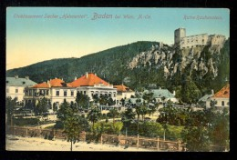 Etablissement Sacher 'Helenental' Baden Bei Wien N.-Oe. Ruine Rauhenstein / P. Ledermann / Postcard Not Circulated - Wien